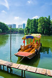 Boats in water of Litchi Bay,south of China. Royalty Free Stock Photo
