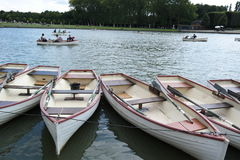 Boats on the water. Boats in a small canal water Stock Photography