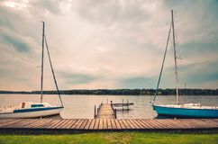 Boats on the water. Stock Photos