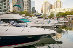 Boats in Waterfront Toronto Stock Photos