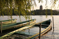 Boats on the West lake Royalty Free Stock Photography