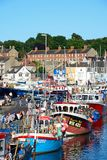 Boats in Weymouth harbour. Royalty Free Stock Image