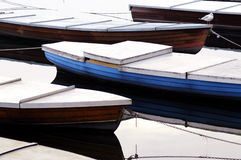 Boats in the winter Stock Photos