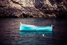 Boats at Xlendi Bay at Gozo, Malta Stock Photos