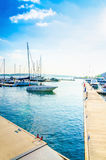 Boats in yacht port in Oslo, Norway. Luxury boats in yacht port in Oslo, Norway Royalty Free Stock Image
