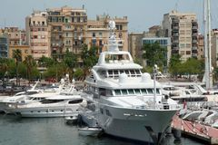 Boats and yachts. (port of the Barcelona Stock Images