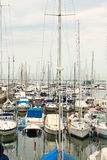 Boats and yachts berthed in docks Royalty Free Stock Image