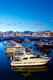 Boats and Yachts in Hong Kong Royalty Free Stock Photo