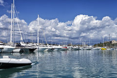 Boats and yachts Royalty Free Stock Image