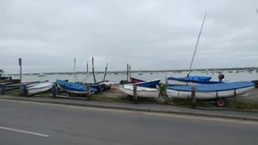 Boats and Yachts Marina in the summer before the storm 1 royalty free stock photos