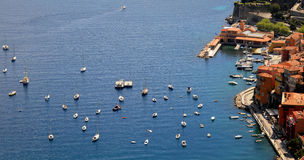 Boats and yachts in Monaco harbor Royalty Free Stock Photo