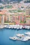 Boats and yachts in Monaco harbor Stock Image