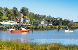 Boats in the Tamar River, Launceston royalty free stock photo