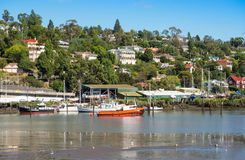 Boats in the Tamar River, Launceston royalty free stock photography