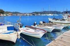 Boats and yachts, near Kekova island royalty free stock photos