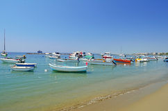 Boats and yachts at Paphos harbor Stock Images