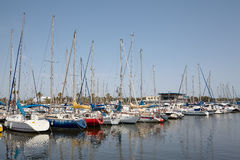 Boats and yachts in the port of Alicante Royalty Free Stock Photos