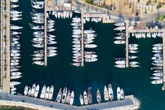 Boats and yachts in Portisco marina, Sardinia Stock Images