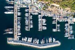 Boats and yachts in Portisco marina, Sardinia Stock Photo
