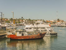 Boats and Yachts in Punta del Este Port Royalty Free Stock Photo