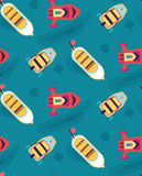 Boats, yachts on the sea on a cruise. Seamless pattern. Royalty Free Stock Images