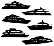 Boats and yachts silhouettes