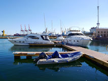 Boats and yachts Stock Images