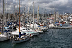 Boats and yachts Stock Photography