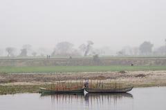 Boats on Yamuna Stock Image