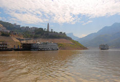 Boats on the Yangtse River Stock Photography