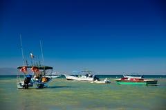 Boats in Yelapa, Jalisco, Mexico. Boats and waves at Yelapa Beach near Puerto Vallarta, Jalisco, Mexico stock photography