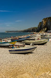 Boats in yport Stock Photos