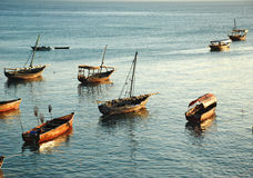 Boats of  zanzibar Royalty Free Stock Photos