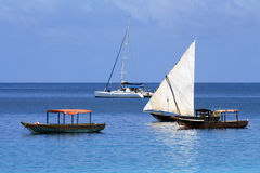 Boats in Zanzibar Royalty Free Stock Images