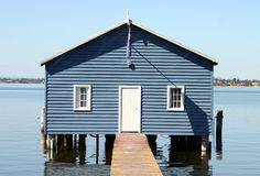 Boatshed I stockfotos
