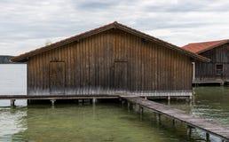 Boatshouse Arkivbild