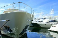 Boatshow. A collection of yachts at a boatshow Royalty Free Stock Photos