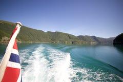 Boattrip till Svartisen Norge Royaltyfria Foton