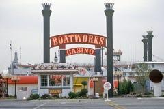 Boatworkscasino, Rotseiland, Illinois stock fotografie