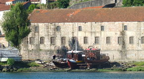 Boatyard στον ποταμό Duoro Στοκ Εικόνες