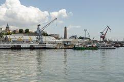 Boatyard, cuerno de oro, Estambul Imagen de archivo libre de regalías