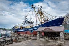 Boatyard di Polruan in Cornovaglia Fotografia Stock