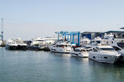 Boatyard di Sunseeker, Poole Fotografia Stock Libera da Diritti
