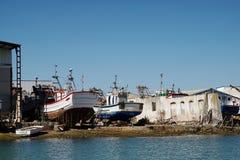 Boatyard in Isla Cristina. Small shipyard in Isla Cristina Royalty Free Stock Photo