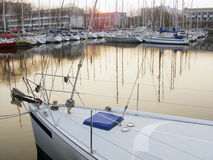 Boatyard. Port of lorient brittany france royalty free stock image
