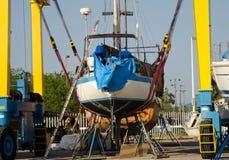 Boatyard in San-blas, Mexico stock fotografie