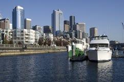 Boatyard at Seattle Waterfront royalty free stock photo