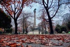 Boavista广场,波尔图葡萄牙秋天视图  库存图片