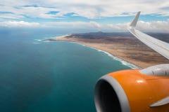 Boavista海岸佛得角- Cabo Verde鸟瞰图  免版税库存照片
