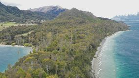 The Bob�s Cove, Queenstown, South Island, New Zealand. The lookout point at Bob�s Cove, Queenstown, South Island, New Zealand stock footage